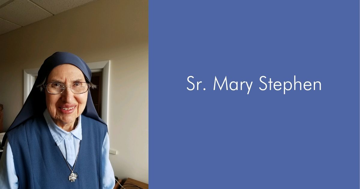 Meet Sr. Mary Stephen!